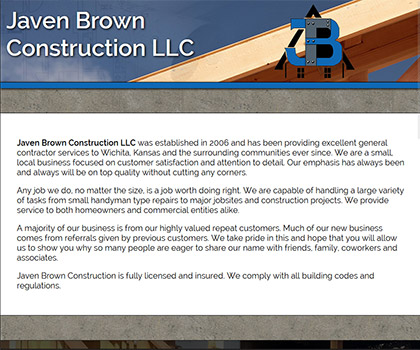 Javen Brown Construction